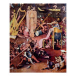 Hieronymus Bosch-The Garden of Hell, detail Poster