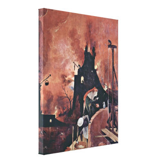 Hieronymus Bosch - The hell detail Canvas Print
