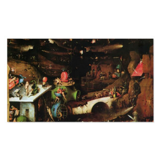Hieronymus Bosch- The Last Judgement (detail) Double-Sided Standard Business Cards (Pack Of 100)