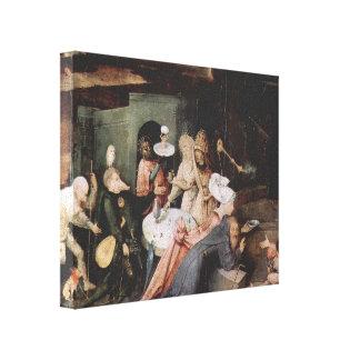 Hieronymus Bosch- The Temptationof St.Anthony Canvas Print