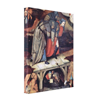 Hieronymus Bosch - The Temptation of St Anthony Stretched Canvas Prints