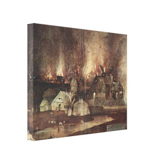 Hieronymus Bosch- The Temptationof St.Anthony Gallery Wrapped Canvas