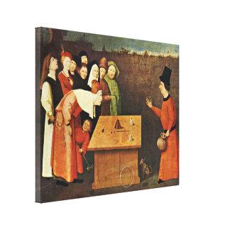Hieronymus Bosch workshop - The Conjurer Gallery Wrap Canvas
