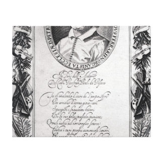 Hieronymus Frescobaldi, engraved by Christian Canvas Print