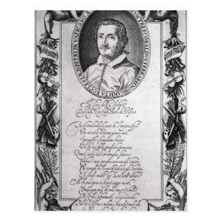 Hieronymus Frescobaldi, grabado por el cristiano Tarjeta Postal