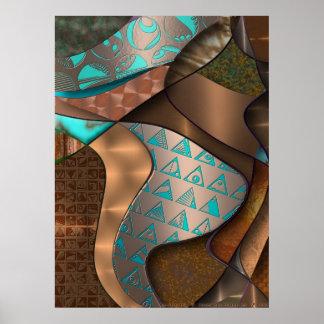 Hieroquoise Cupriglyphs Poster