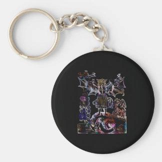 Hieros Gamos Alchemy Keychain Basic Round Button Keychain