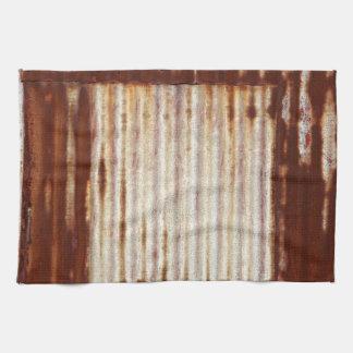 Hierro acanalado oxidado toallas de mano