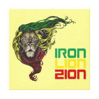 Hierro de Rastafarian del reggae, león, lona de Impresión En Lienzo