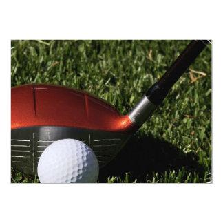 Hierro del golf e invitación de la pelota de golf