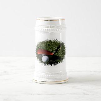 Hierro del golf y cerveza Stein de la bola Tazas
