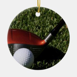 Hierro del golf y ornamento de la bola ornamento de navidad