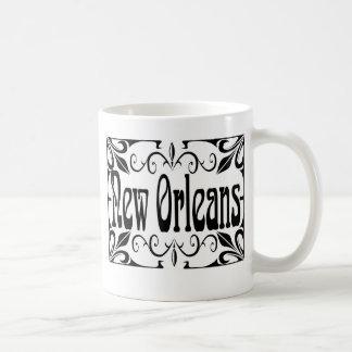 Hierro labrado de New Orleans Tazas De Café