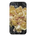 Hierro labrado y rosas iPhone 4/4S carcasa