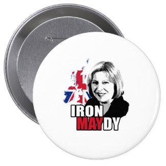 Hierro Maydy la dama de hierro - - Pin Redondo De 4 Pulgadas