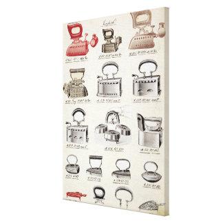 Hierros, de un catálogo comercial de las mercancía impresión en lienzo