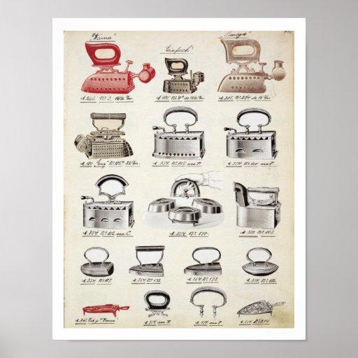Hierros, de un catálogo comercial de las mercancía poster