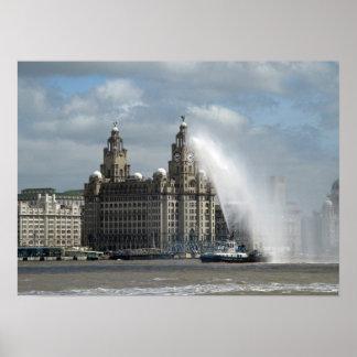 Hígado que construye el poster de Liverpool