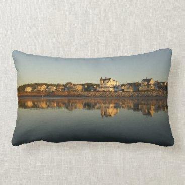 Beach Themed Higgins Beach Bayview Early Morning Reflection Lumbar Pillow