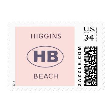 Beach Themed Higgins Beach Blush Postage