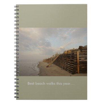 Beach Themed Higgins Beach High Tide Shipwreck Road Spiral Notebook