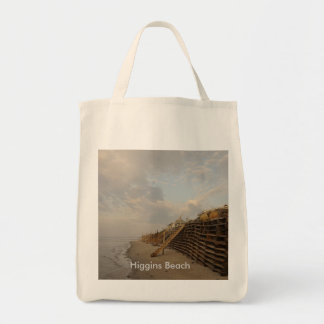 Higgins Beach High Tide Shipwreck Road Tote Bag