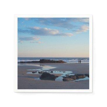 Beach Themed Higgins Beach Sand Dollar Rock Paper Napkin