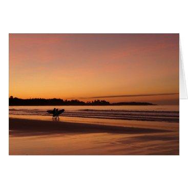 Beach Themed Higgins Beach Surfing Date Card