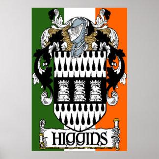Higgins Coat of Arms Irish Flag Print