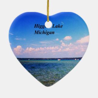 Higgins el lago Michigan Adorno Navideño De Cerámica En Forma De Corazón