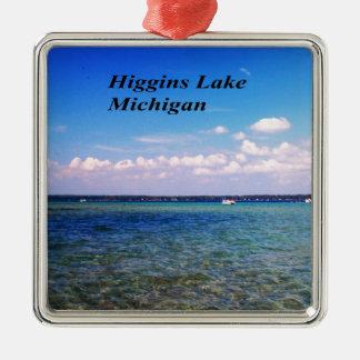 Higgins el lago Michigan Adorno Cuadrado Plateado