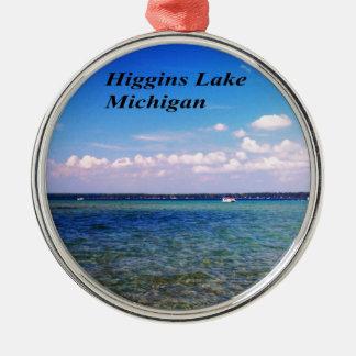 Higgins el lago Michigan Adorno Redondo Plateado