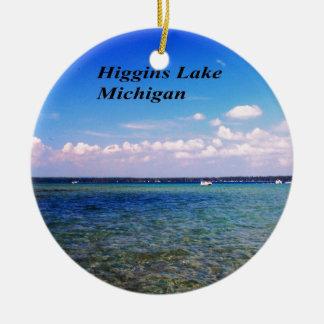 Higgins el lago Michigan Adorno Redondo De Cerámica