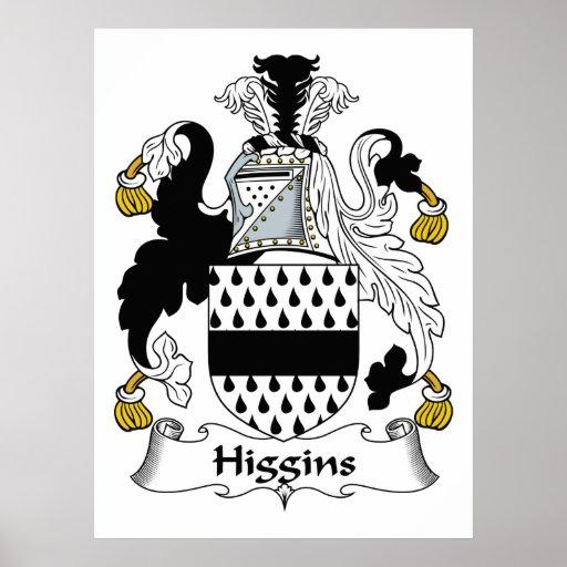 Higgins Family Crest Poster
