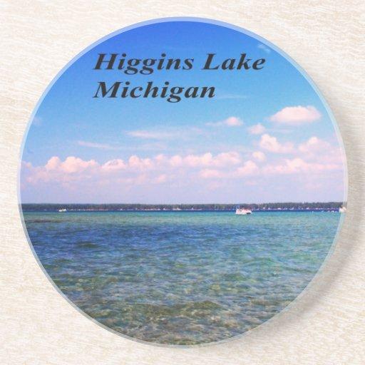 Higgins Lake Michigan Beverage Coaster