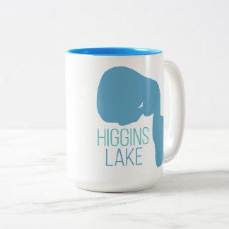 Higgins Lake, Roscommon County, Michigan Two-Tone Coffee Mug