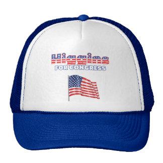 Higgins para la bandera americana patriótica del c gorras