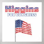 Higgins para la bandera americana patriótica del c poster