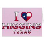 Higgins, Tejas Felicitaciones