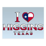 Higgins, Tejas Postales
