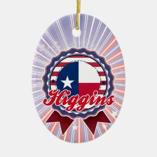 Higgins, TX Adorno Ovalado De Cerámica