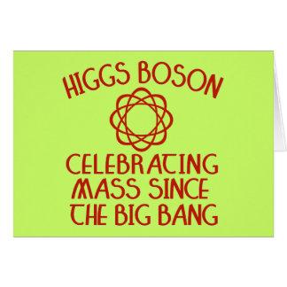 Higgs Boson Celebrating Mass Since the Big Bang Card