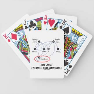 Higgs Boson Not Just Theoretical Anymore Bicycle Playing Cards