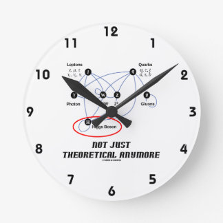 Higgs Boson Not Just Theoretical Anymore Round Clock