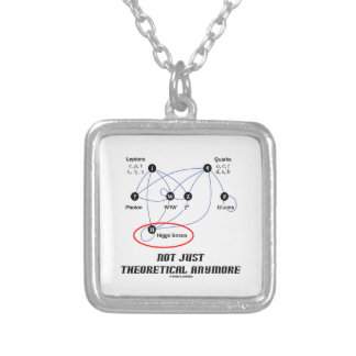 Higgs Boson Not Just Theoretical Anymore Silver Plated Necklace
