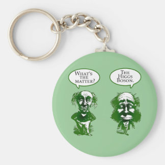 Higgs Boson Physics Humor Gifts Basic Round Button Keychain