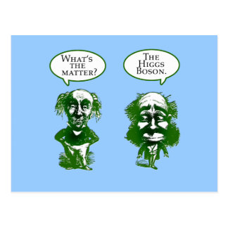 Higgs Boson Physics Humor Gifts Postcard