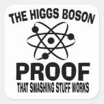 Higgs Boson Smashing Stuff Works Square Stickers