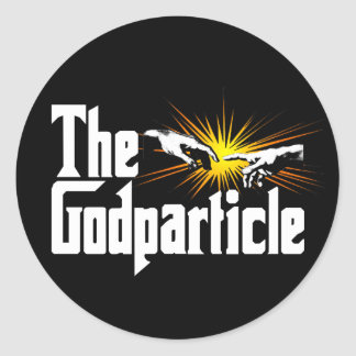Higgs Boson The Godparticle Round Stickers