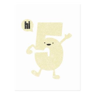 High 5 five postcard